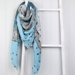 'Let's Run Away To Paradise' Scarf - women's accessories