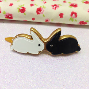 Bunny Kisses Hairslide - children's accessories