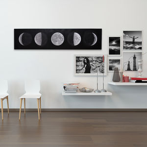 Monochrome Moon Phases Canvas - nature & landscape