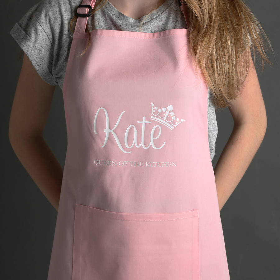 personalised queen of the kitchen apron by nutmeg home & gifts ...