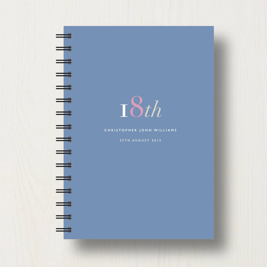 Personalised 18th Birthday Journal Or Guest Book