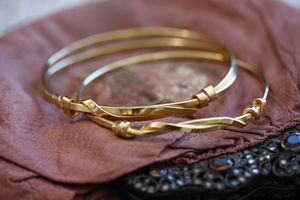 Handmade Gold Plated Silver Knot Bangles