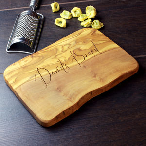 Personalised Waney Edged Cheese Board - gifts for him