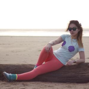 Hand Painted Mermaid Boobs Ladies Tee