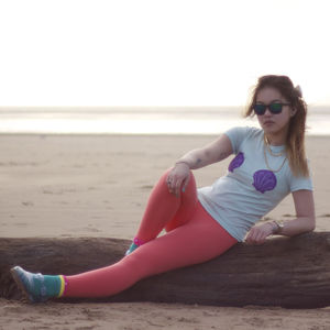 Hand Painted Mermaid Boobs Ladies Tee - women's fashion