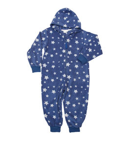 Blue And White Star Micro Fleece Onesie