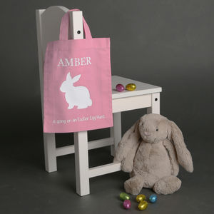 Personalised Easter Bunny Bag - easter egg hunt
