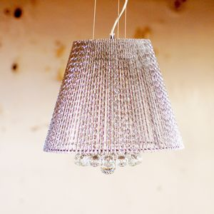 Crystal Chandelier Metallic Ceiling Pendant Light - statement lighting