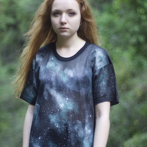 Hand Painted Galaxy Mesh Tee