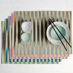 Striped Bamboo Placemat - dining room