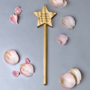Personalised Magic Wand Christening Gift - christening gifts