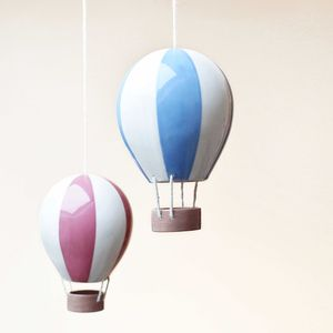 Stripey Ceramic Hot Air Balloon