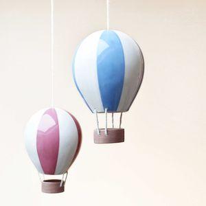 Stripey Ceramic Hot Air Balloon