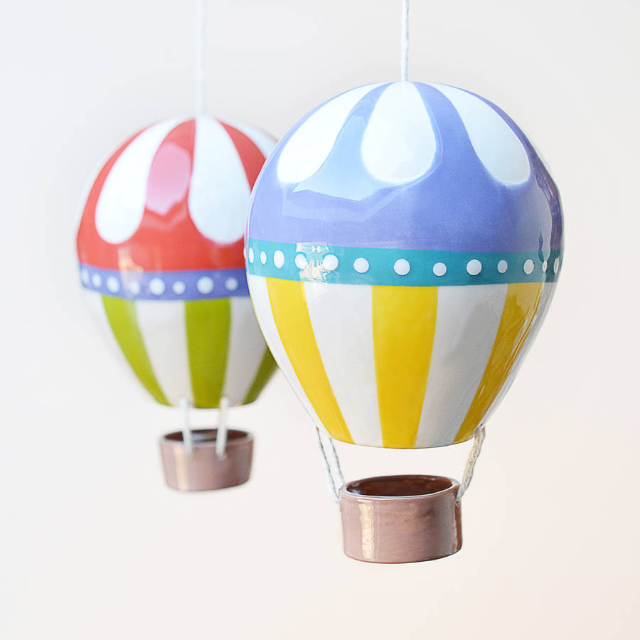 Flower Top Ceramic Hot Air Balloon