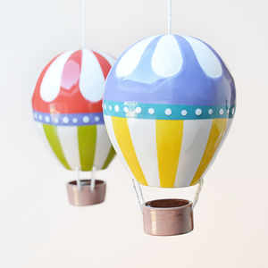 Flower Top Ceramic Hot Air Balloon - personalised