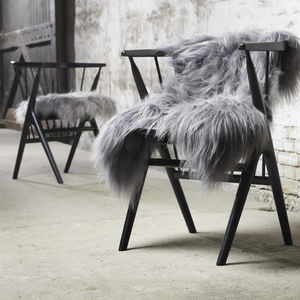 Finest Icelandic Luxury Grey Sheepskin - keeping cosy