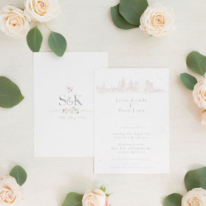 London Skyline Wedding Invitation