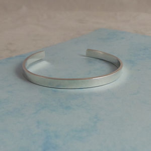 Mens Sterling Silver Bangle