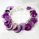 Button Charm Bracelet - Purple