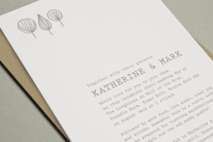 'Laurel' Letterpress Wedding Stationery