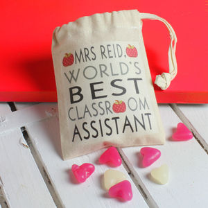 Personalised 'World's Best Teacher' Bag Of Sweets - chocolates & confectionery