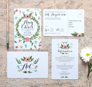 Summer Garden Wedding Invitation - spring florals
