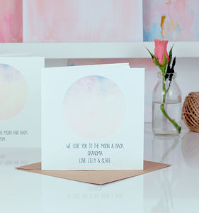 Moon And Back Personalised Mothers Day Card - mother's day cards