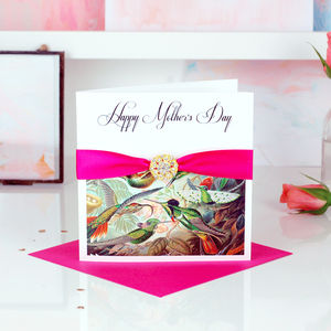Bird Of Paradise Tropical Print Mothers Day Card