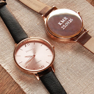 Ladies Watch With Leather Strap - rose gold jewellery
