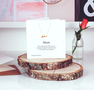 Love Birds Gold Necklace Mothers Day Card - mother's day cards & wrap