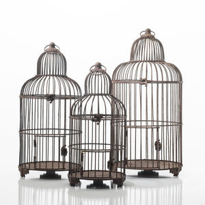 Birdcage Planter In Rust - table decorations
