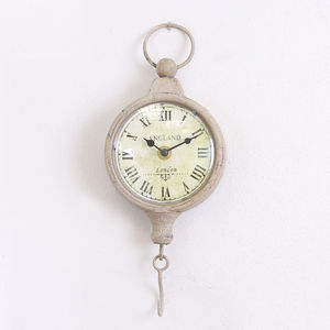 1st Anniversary Antique Style Wall Clock With Hook