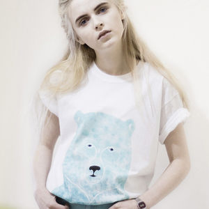 Hand Painted Bear Tee - contemporary women's fashion