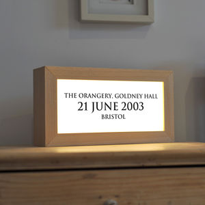 Personalised Moment In Time Light Box - desk lamps