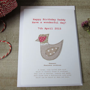 Personalised Pheasant Birthday Card - birthday cards