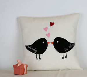 'Love Birds' Cushion - patterned cushions