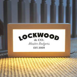 Personalised Handyman Light Box