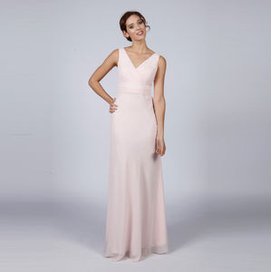 Floor Length Bridesmaid Or Prom Dress With Straps - bridesmaid fashion
