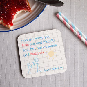 Personalised Mum Mummy Grandparent Rhyme Poem Coaster - gifts for grandparents
