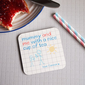 Personalised Mum Mummy Grandparent Rhyme Poem Coaster - kitchen