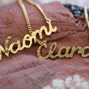 Handmade Gold Plated Name Necklace