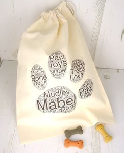 Personalised Pet Storage/Treat Bag - shop by price