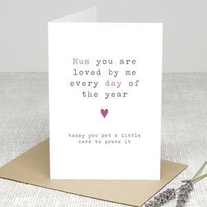 'Loved Every Day' Personalised Greetings Card - last-minute cards & wrap