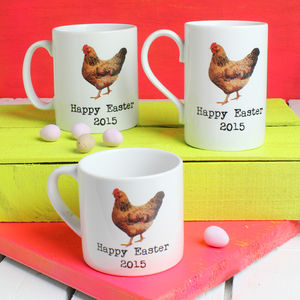 Personalised Easter Chicken Mug - tableware