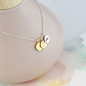 Personalised Hugs And Kisses Necklace - necklaces & pendants