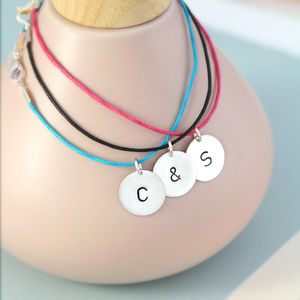 Personalised Friendship Disc Bracelet