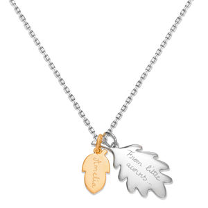 Personalised Mixed Metal Acorn Necklace