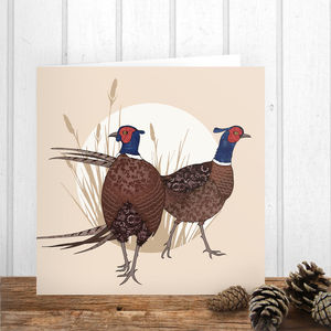 Pheasants Card