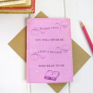 Mother's Day Book Card - cards & wrap