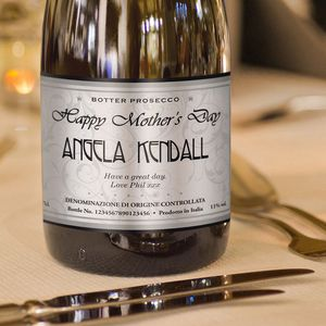 Personalised Mother's Day Elegant Labelled Prosecco - champagne & prosecco